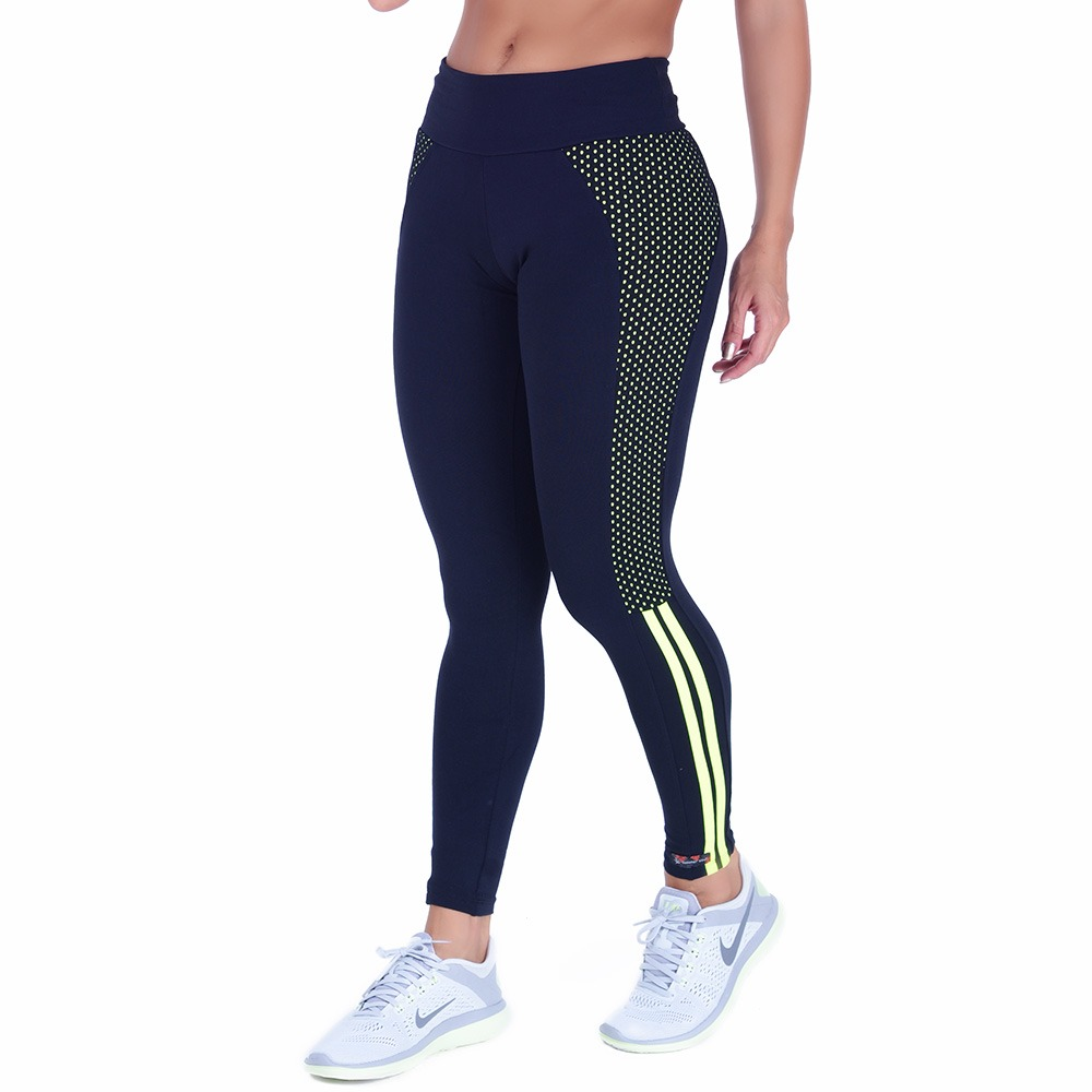 Leggins Athletic Nero/verde