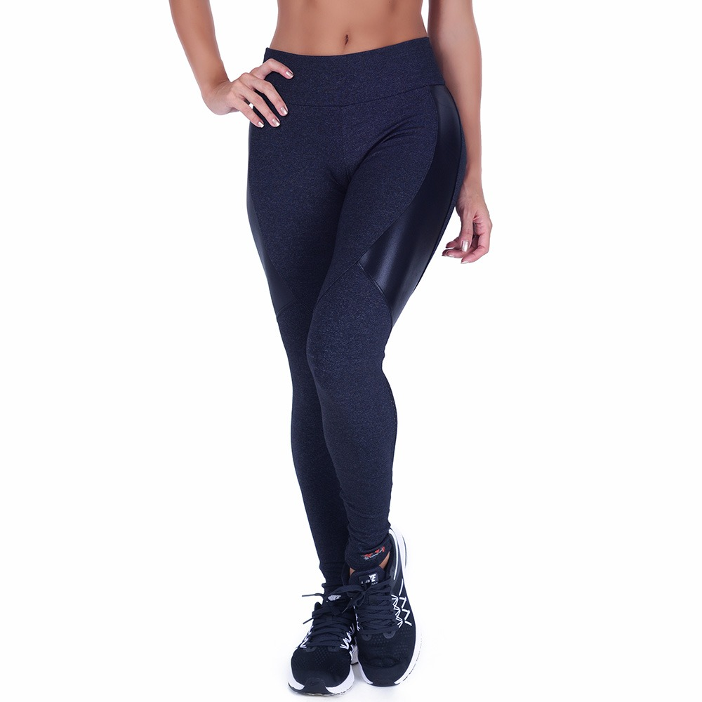 Leggins Grigio Antracite In Supplex