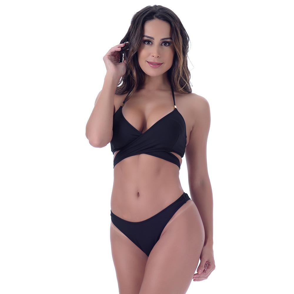 Bikini Nero Intrecciato